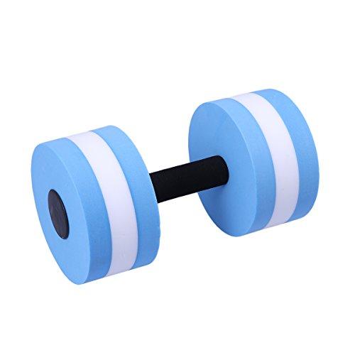 (WINOMO Aquatic Exercise Dumbells EVA Water Barbells Hand Bar For Water Resistance Aerobics (Blue)
