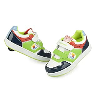Piggy2gether - Girls & Boys Casual Sport Roller Skates Shoes Outdoor Sneakers (Green, Euro Size 39)