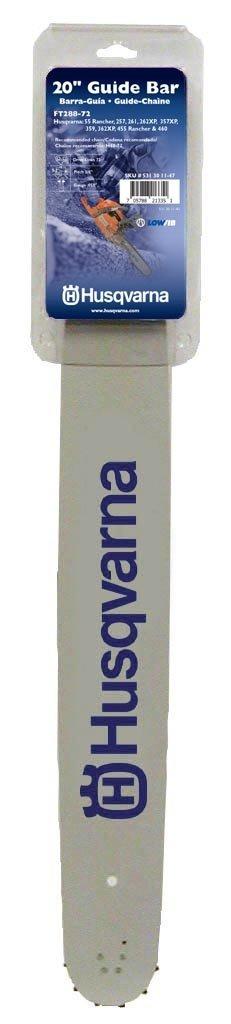 Husqvarna 531301147 FT288-72 20-Inch Guide Bar, 0.058-Gauge, 3/8-Pitch by Husqvarna