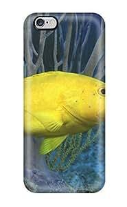 New UekNoBi16760dDoAq Bright Yellow Fish Skin Case Cover Shatterproof Case For Iphone 6 Plus