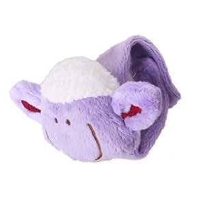 Lovely Sheep Shape Wrist Rattle Soft Baby Toy Purple