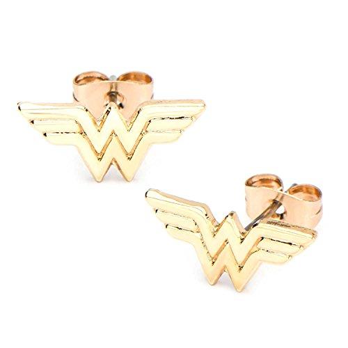 Wonder Woman Golf Plated Stud - Woman Earrings Stud Wonder