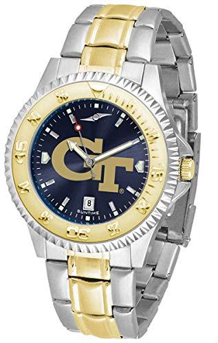 (Linkswalker Mens Georgia Tech Yellow Jackets Two Tone Anochrome Watch )
