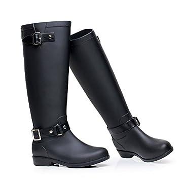 Rain Boots Frauen Neue Stilvolle Regen Stiefel, Frauen Wasserdichte Rutschfeste Stiefel Regen Stiefel Erwachsene Stiefel Regen Stiefel (Farbe : D, Größe : 38#)