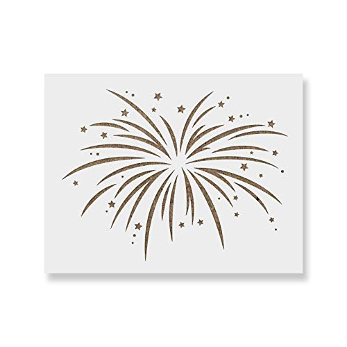 Fireworks Stencil Template - Reusable Stencil with Multiple Sizes Available ()