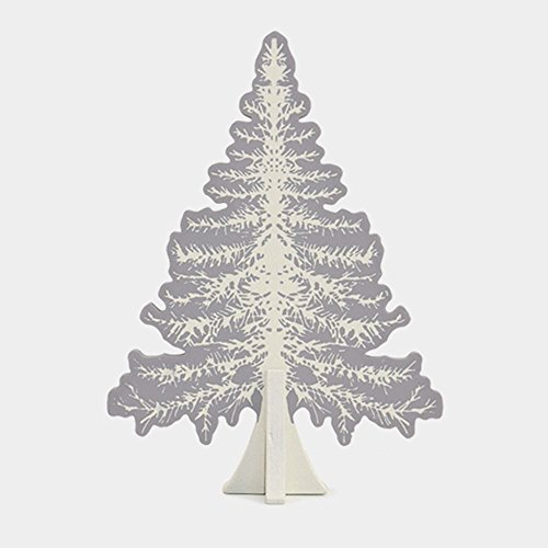 East Of India: Large Wooden Slot Together Christmas Tree: Grey & Cream by East Of India