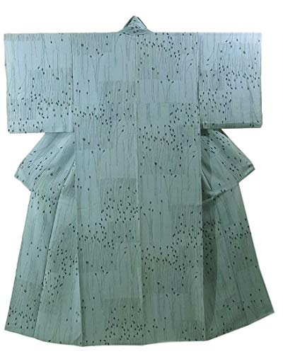 知覚対話離婚リサイクル 着物  夏物 絽 小紋 花模様 正絹 裄63cm 身丈156cm