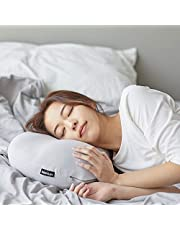 BODYLUV Bed Pillow, Sleeping with Micro Airballs, Comfortable Super Soft Adjustable Relief for Neck Pain, Back Support, Machine Easy Washable, 21.6 Inches x 12.9 Inches - Deep Grey