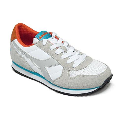 Diadora Women's K-Run W Sneaker Low Neck, Grey White Cyan / Blue Fluo