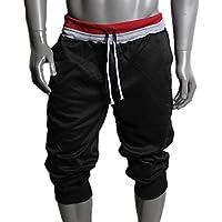 Perman Hombres Moda Deportes sudor pantalones cortos pantalones harem Dance Baggy–Pantalones deportivos para mujer