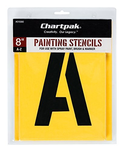 Chartpak Painting Stencil (Chartpak Letter Painting Stencils, A - Z, 8 Inches H, 26 per Pack (01580))
