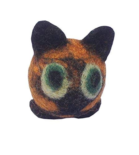 """Le Sharma Eco-Family Rattle Ball, 2"""" Diameter, Cat and Puppy Toy Ball (Owl)"""