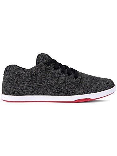 K1X Herren Sneaker LP Low Black/White/Red