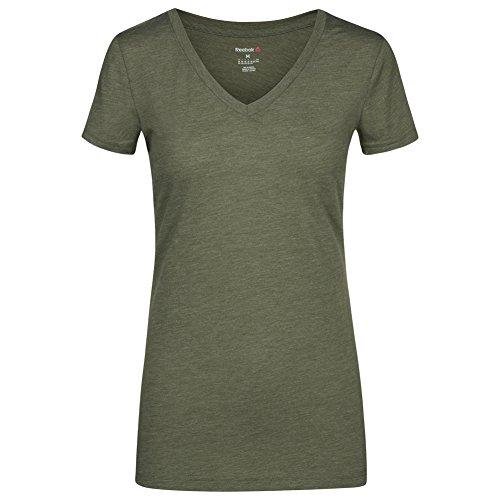 Reebok Global Blank Scollo a V da donna fitness T-shirt aj8015