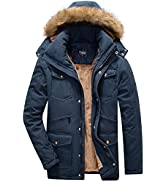 Yozai Men's Ski Jacket,Warm Winter Coats for Mens Winter Jacket Snowboard Jacket Snow Waterproof ...