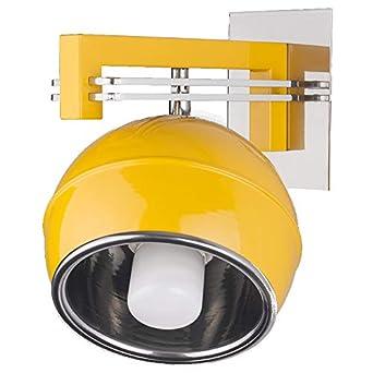 Acier Murale W1 Effet 4 Ampoules Lampe Jaune Boule Kg Couleurs Applique De gbY76fy