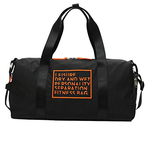 Soluo Fitness Gym Bag Water Resistant Large Capacity Portable Sports Travel Duffel Bags Unisex Training Handbag