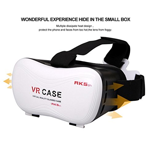 Nacome Google Cardboard Handset VR BOX Virtual Reality 3D Google Glasses with 3D Controller and Film For Watching Movie and Playing 3d Games as well as Painting and Designing Via Tilt Brush
