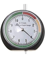 FLAMEER autoaccessoires bandenprofielmeter - dieptemeter - profieldieptemeter - meetbereik 0-11 mm voor personenauto's, vrachtwagens, SUV's en motorfietsen