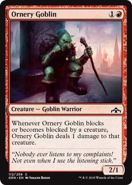 Amazon.com: Magic: The Gathering - Ornery Goblin (112/259 ...