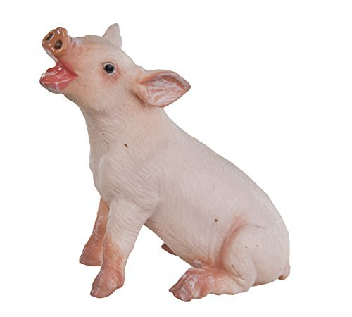 Safari Ltd Safari Farm  Sitting Piglet  Educational Hand Painted Figurine  Quality Construction from Safe and BPA Free Materials  For Ages 3 and Up