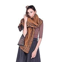 Threelove Women's Imitation Wool Scarf Wrap Blanket Shawls Brown