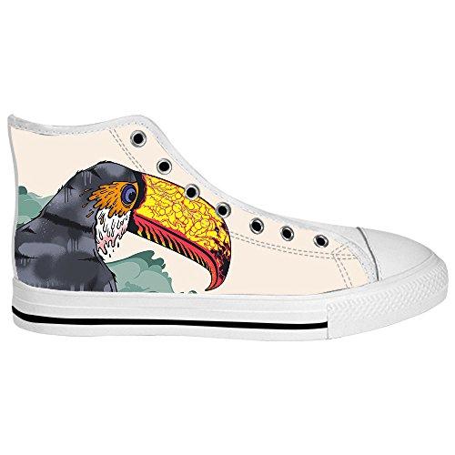 Dalliy Toucan Bird Cartoon Mens Canvas shoes Schuhe Lace-up High-top Sneakers Segeltuchschuhe Leinwand-Schuh-Turnschuhe C