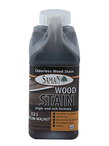 Saman Interior Water Based Stain for Fine Wood, American Walnut, 1 Quart