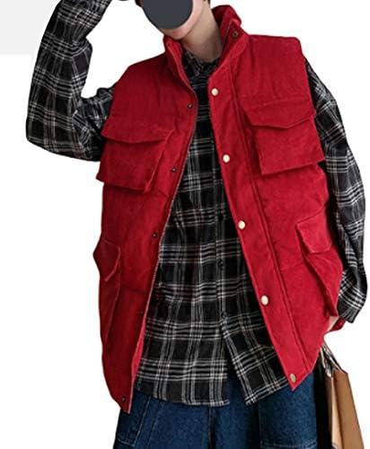 メンズパッド入りジレスタイリッシュなボディウォーマーベストカジュアルアウトドアキルティングベストその他軽量クラシックノースリーブ冬のコート快適な厚手のジャケット
