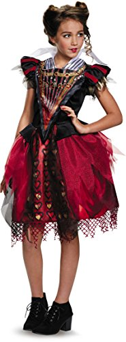 Queen Of Hearts Disney Costume (Disguise Red Queen Tween Alice Through The Looking Glass Movie Disney Costume, X-Large/14-16)
