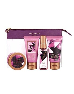 Ted Baker London Origami Occasions 5 Piece Gift Set Body Wash 50ml, Body Souffle 50ml, Body Spray 50ml Bath Foam 50ml + Clear Bag
