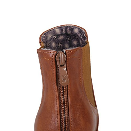 Autumn and Winter Thick Bottom Martin Boots Thick Heel Bare Boots Brown UdqzyO