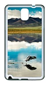 Mountain And Lake TPU Custom Samsung Galaxy Note 3/Note III/N9000 Case and Cover - White