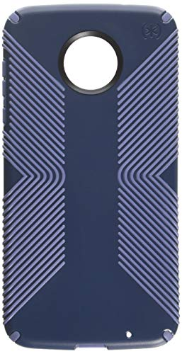 (Speck Products Presidio Grip Cell Phone Case for Moto Z2 Force Edition - Marine Blue/Twilight Blue )