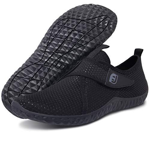 (Centipede Demon Mens Slip on Water Shoes Quick Dry Barefoot Beach for Swim Surf Black Women 9.5 M/Men 7.5 M)