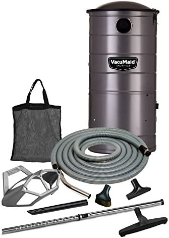 VacuMaid UV150GKP Extended Life Professional Wall Mounted Utility Vacuum with 50ft. Garage Kit Pro Unit and Kit
