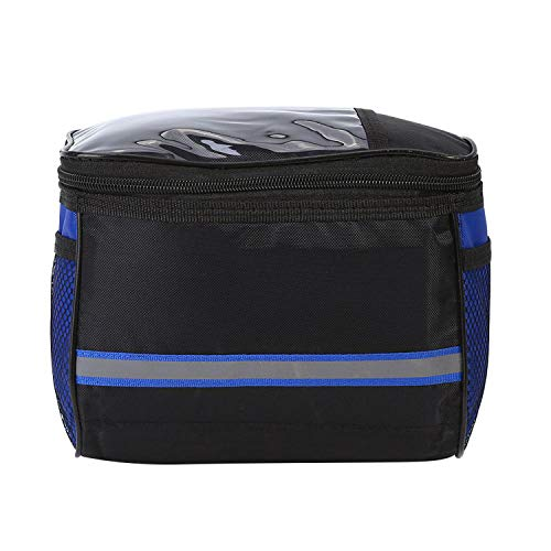 Bike Hiking MTB Front Frame Waterproof Riding Cycling Bike Handlebar Bag Bicycle Front Tube Pocket Pack Travel Basket Waist Bag,Blue