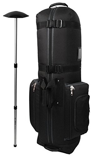 CaddyDaddy Golf CDYCON2GP Constrictor Grey with North Pole Golf Bag Travel Cover, Black/Grey