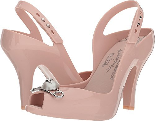 Vivienne Westwood Women's Anglomania + Melissa Lady Dragon XV Pale Pink 6 B US