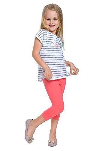 hi!mom Corto Infantil 3/4 Leggings de Algodón Básico Liso Infantil Pantalones Capri Edad 2-13: Amazon.es: Ropa y accesorios
