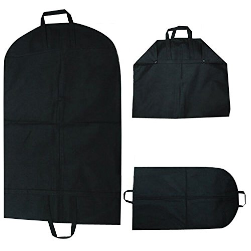"""Hmost New Breathable Black 40"""" Foldable Garment Bag Suit Cover with Handles and Zipper for Travel or Cabinet Closet Wardrobe"""