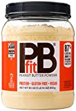PBfit All-Natural Peanut Butter Powder, Powdered Peanut Spread From Real Roasted Pressed Peanuts, 8g of Protein (30 Oz.)