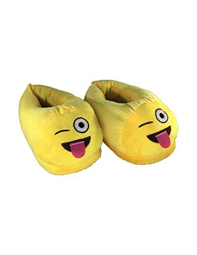Customized Emoji Cartoon Plush Tongue Out Slippers Cotton Funny Soft Comfy Socks Girls Boys Children House Home Winter Warm Unisex Indoor Shoes]()