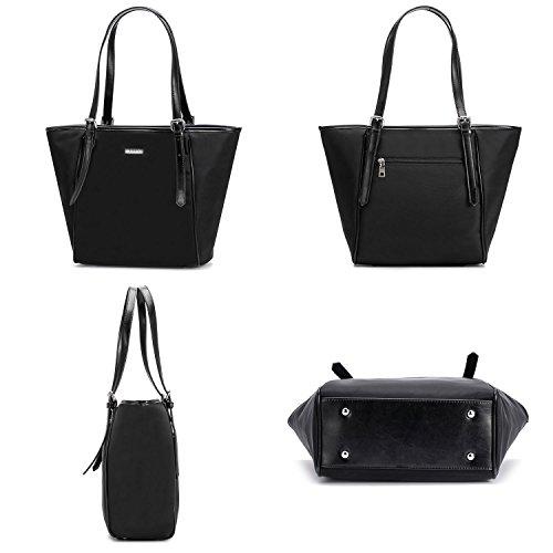 Moda Comprador hombro diseño Bolsa de de Mujer Bolso Negro de impermeable mano Bolso 1 Tibes 7dAqXIUd
