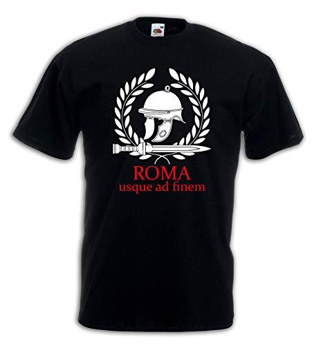 shirt Ad J2858 Maglietta Finem Nero Usque Roma Settantallora T Detto Latino Pwq5xZYP