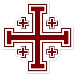 Jerusalem Cross Crusaders' cross car bumper window sticker 4
