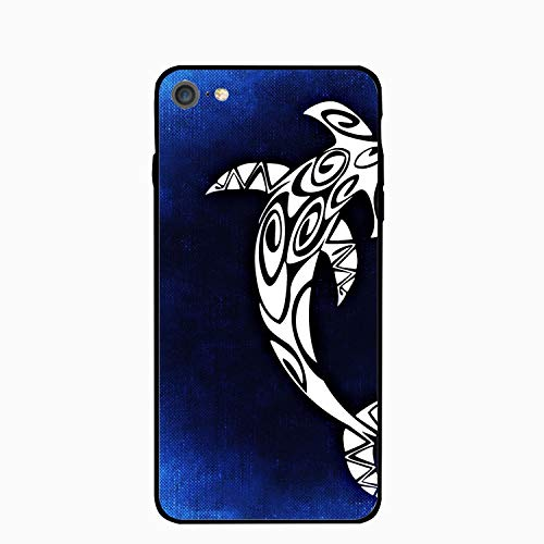 iPhone 6S 6 Case Women Slim Hammerhead Shark Printed Rubber Shockproof Bumper Protective Anti-Scratch Cover -