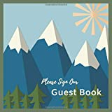 Mountain Guest Book/Diary/Journal: PROMPTED 200