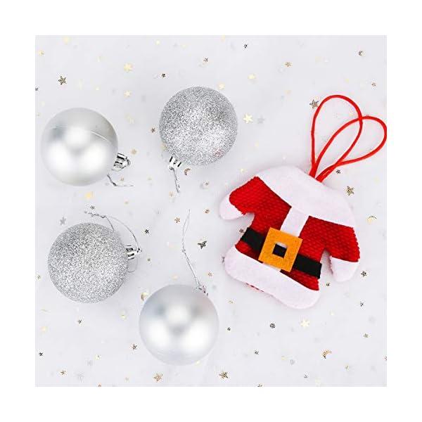 Aitsite 24PCS Palle di Natale Palle per Albero di Natale Bauble 6 CM Porta Applique Ornamenti Decorazioni Albero Palle Decorative Festa per Matrimoni Forniture 4 spesavip