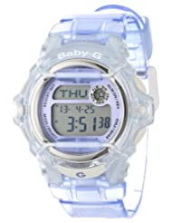 Casio Women's G-Shock BG169R-6V Purple Resin Quartz Watch with Digital Dial